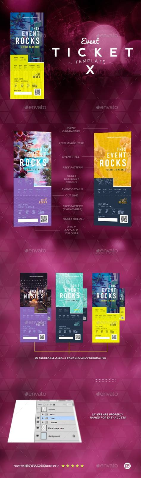 event tickets templates 216 best ticket templates images on