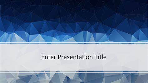 Free Low Poly Powerpoint Template Free Powerpoint Templates Powerpoint Themes