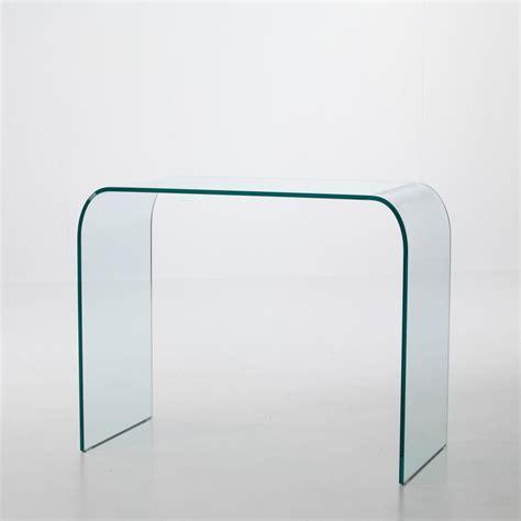 consolle per ingresso consolle per ingresso joshua in vetro curvato a ponte 88 x