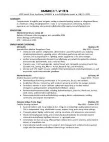 professional nursing resume brandon stiefel