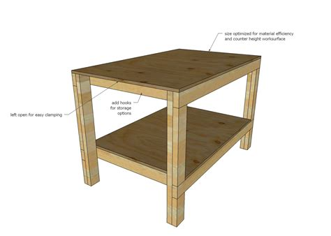 wood work bench plans ana white build a easy diy garage workshop workbench