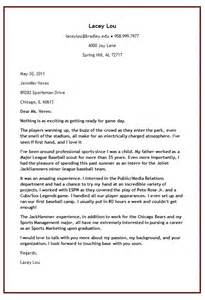sle cover letter sle cover letter for baseball