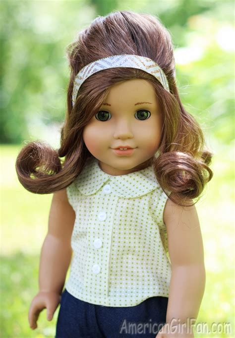 Doll Hairstyles For American by Doll Hairstyle Vintage Inspired Half Up Style