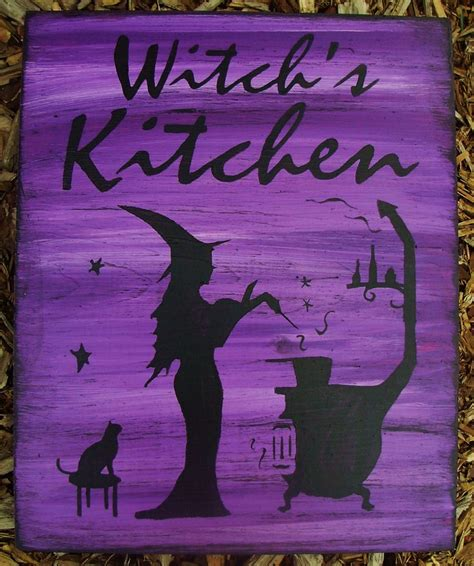 Witch Kitchen Decor by Witches Kitchen Witch Sign Witchcraft Primitives Folk
