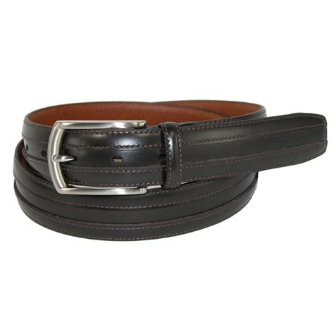 mens vegetable tanned leather 1 1 4 inch feather edge belt