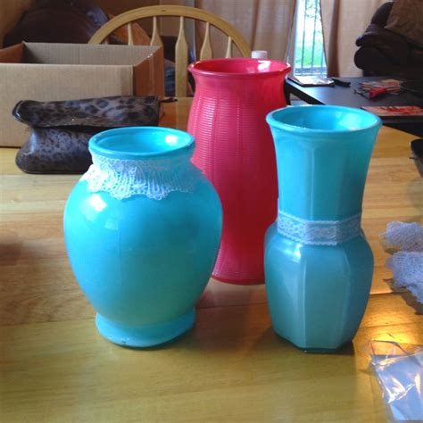 Spray Painted Vases by Spray Painted Vases For The Home