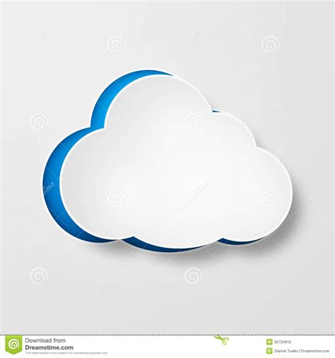 How To Make A Paper Cloud - white paper clouds gradient blue background royalty