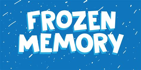 dafont winter frozen memory regular font by hanoded font bros