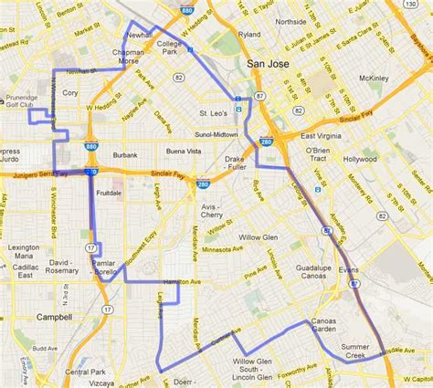 san jose city map dev davis for san jose council district 6 bayareagop
