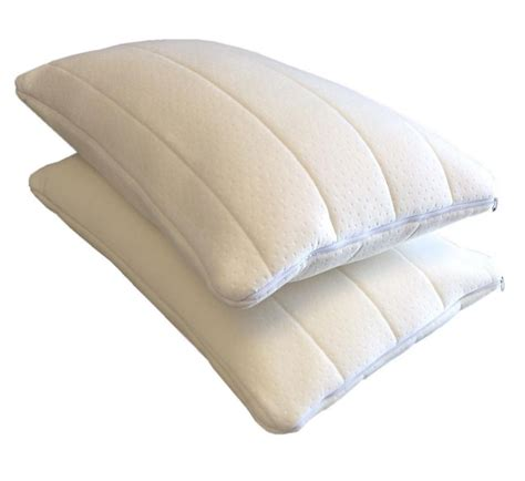 therapeutic bed pillows 2firm queen standard microcushion memory foam white