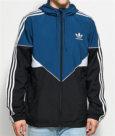 Jaket Parasut Adidas Black Blue adidas premier black blue white jacket