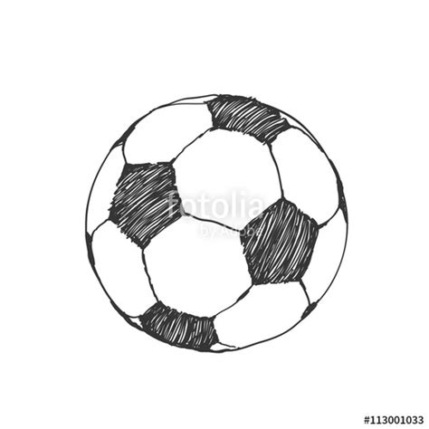 doodle bola quot football icon sketch soccer in doodles
