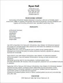 Orthodontic Assistant Sle Resume by Professional Orthodontic Assistant Resume Templates To Showcase Your Talent Myperfectresume