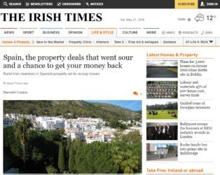 the times property section independent consultant