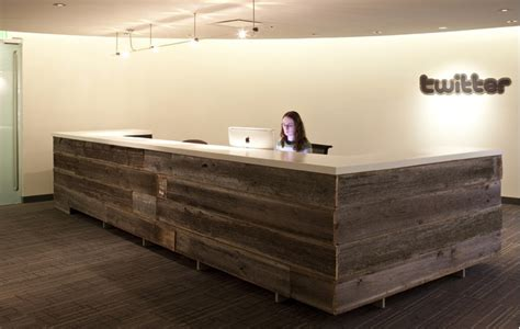 Wooden Reception Desk Reclaimed Wood Office Desk