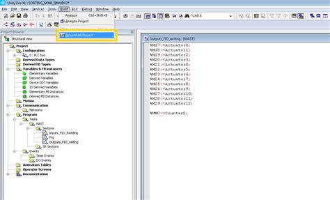 tutorial unity schneider unity pro soft plc through modbus tcp ip factory i o