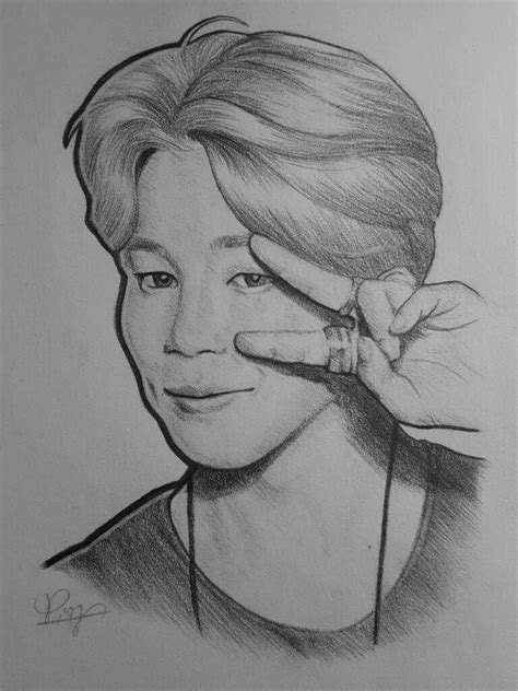 V Drawing Jimin by Jimin Drawing Army S Amino