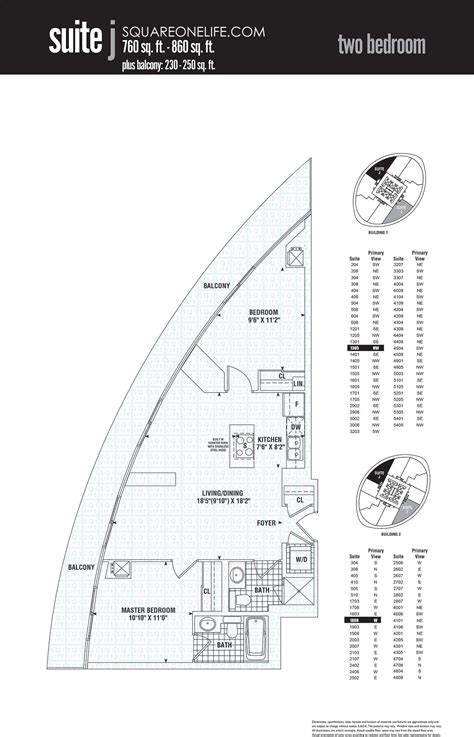 absolute towers floor plans marilyn condos 50 60 absolute ave mississauga squareonelife