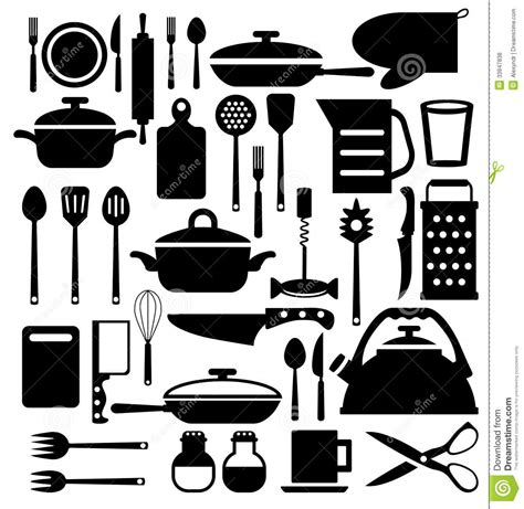 kitchen pattern vector free kitchen tool cutlery vector icons set stock vector
