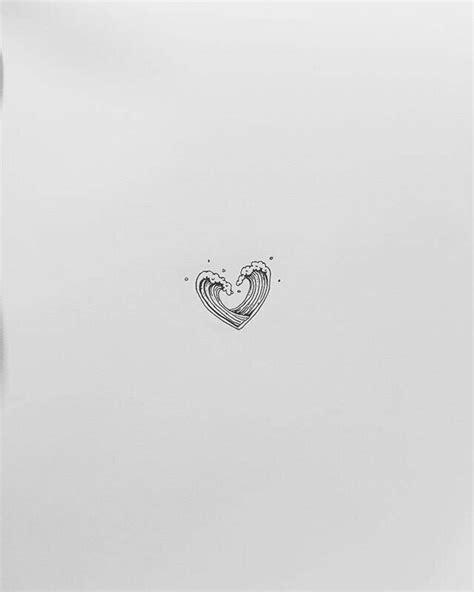 wave heartbeat tattoo best 25 wave tattoos ideas on small wave