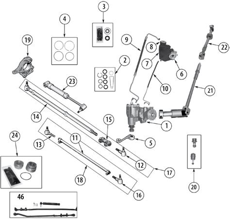 Parts For Jeep Wrangler Jeep Wrangler Tj Steering Parts 97 06 Quadratec