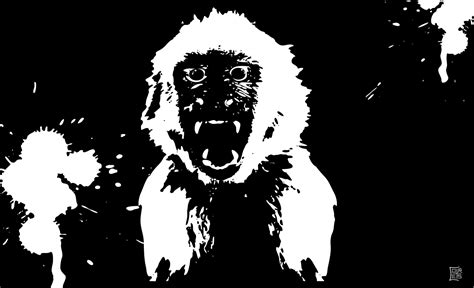 angry monkey silhouette vector   vector