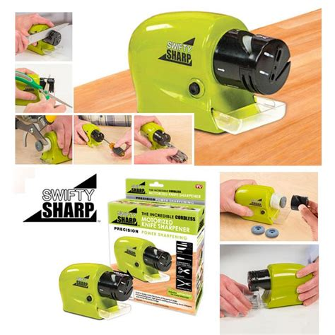 Pengasah Pisau Elektrikswifty Sharp swifty sharp alat pengasah pisau gunting otomatis elektrik multifungsi elevenia