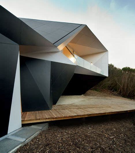 Architecture Origami - the walls of this house in australia by architects mcbride