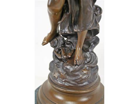 Luxury Home Decor Accessories auguste moreau art nouveau bronze female aurore figurine