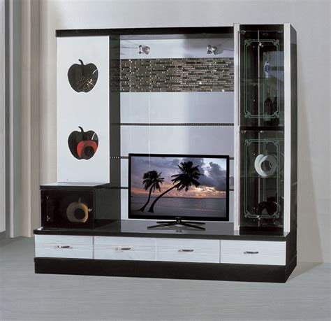 Latest Wall Unit Designs | chinese manufactory latest design tv unit 9913 fancy led