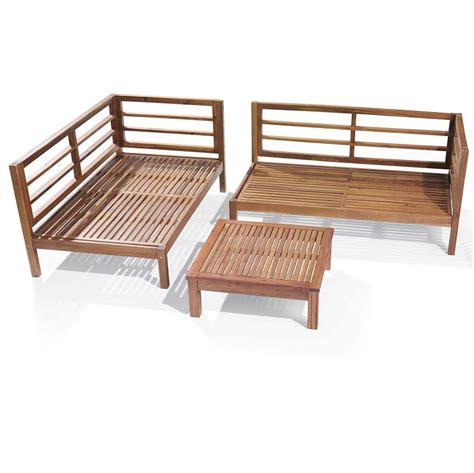 Sofa Material Outliv Odense Loungeecke 3 Teilig Akazie Polster Garten