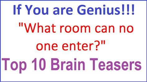 riddles and brain teasers with answers what is it brain teasers with answers best 25 brain
