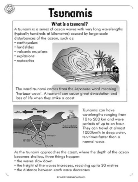 Tsunami Worksheets For Middle School by 17 Best Images About Disasters On