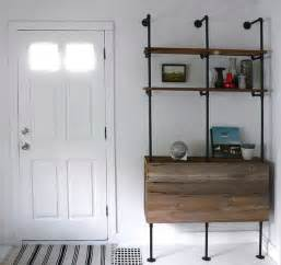 pipe shelves diy recycled steel pipes furniture and home accessories