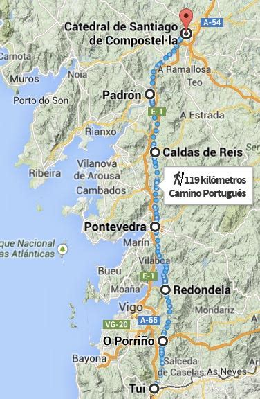 camino portugues gu 237 a camino portugu 233 s de tui a santiago de compostela