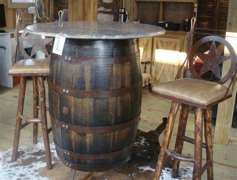 Barrel Bar Table Whiskey Barrel Furniture Images