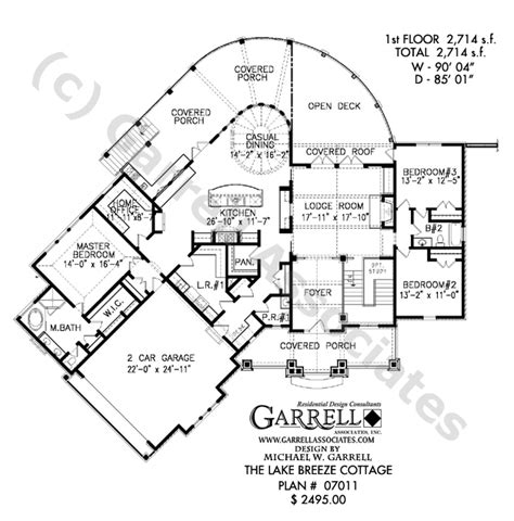 lake house floor plan lake breeze cottage house plan active adult house plans