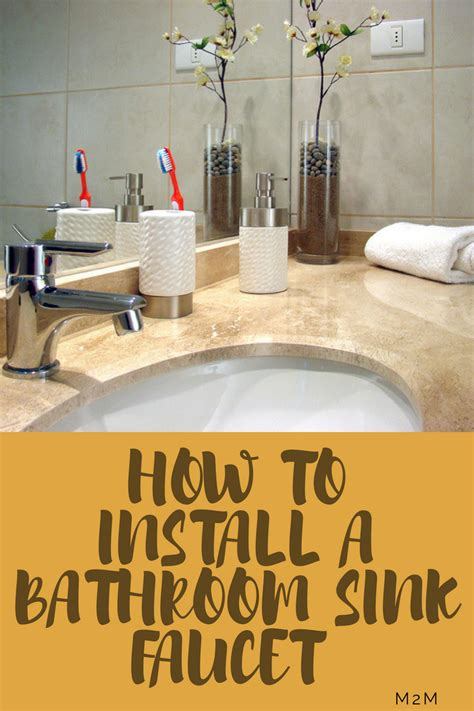how to install a kitchen sink faucet how to install bathroom sink faucets mother2motherblog