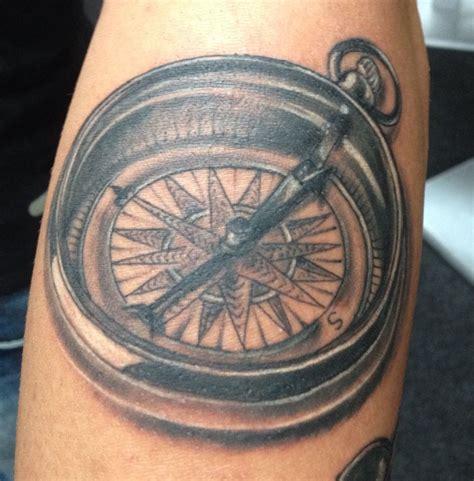 compas tattoos compas kompas clocks