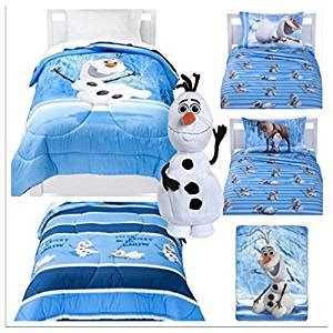 frozen bed in a bag amazon com disney frozen olaf 6 piece twin bed in a bag