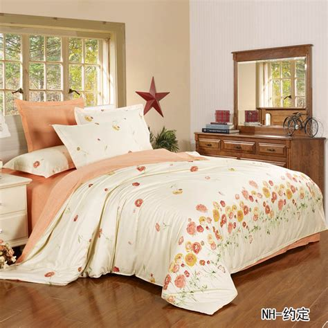 beige comforter full beige orange flower with leopard print bedspread 100