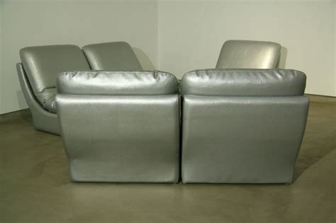 silver sofa set modular silver leather sofa set by vladimir kagan at 1stdibs
