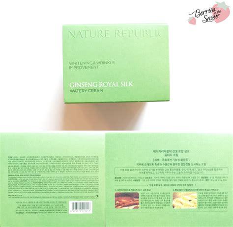 Nature Republic Ginseng Royal Silk Watery 1ml review nature republic ginseng royal silk watery