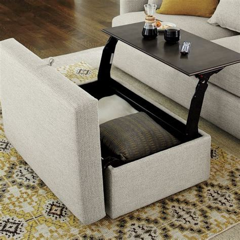 ottoman with storage tray 1000 ideas about ottoman with storage on