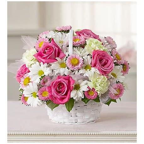 cesti di fiori fiori rosa in cesto