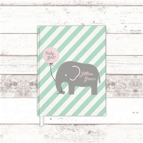 Baby Shower Keepsake Book Ideas by Elephant Baby Shower Guest Book Ideas From