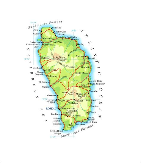 dominica on a map dominica map mappery