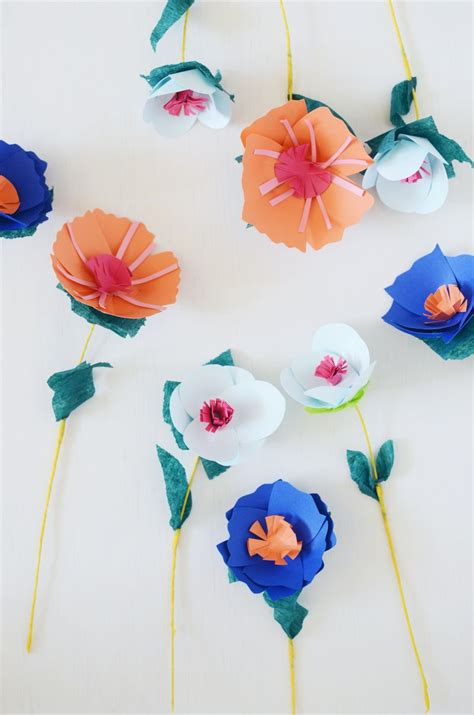 How To Make A Paper Bouquet Of Flowers - paper flower bouquet a beautiful mess
