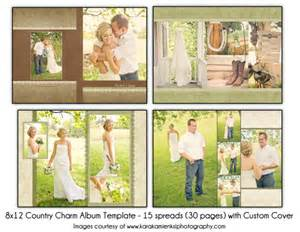 Wedding Albums For Sale Psd Wedding Album Template Country Charm 8x12 15spread