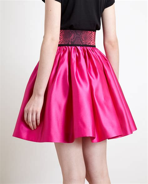 Silk Skirt lyst christopher belted silk skirt in pink